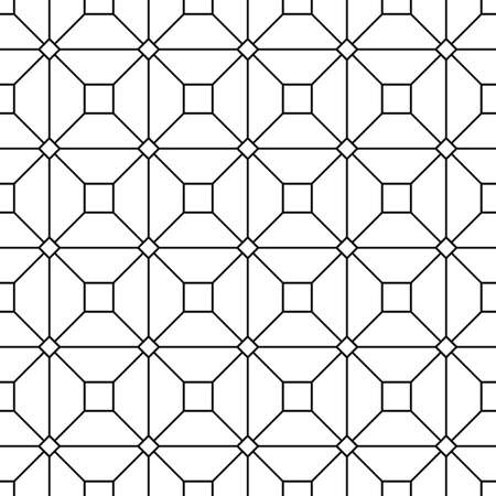 square abstract: Seamless monochrome grid vector pattern design background Illustration