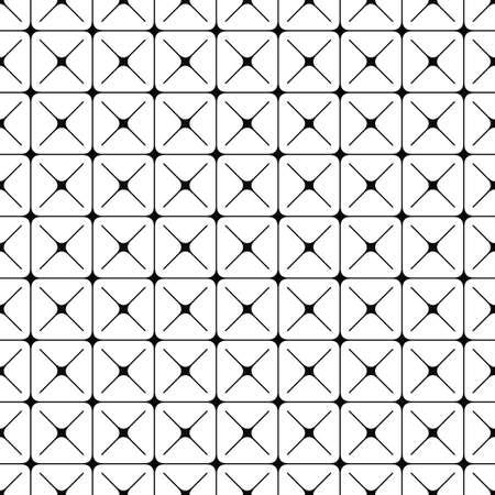 Seamless abstract monochrome geometric pattern design background