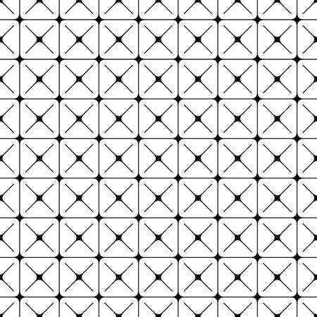 Seamless abstract monochrome geometric pattern design background