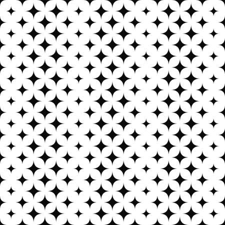 star pattern: Seamless vertical black and white star pattern