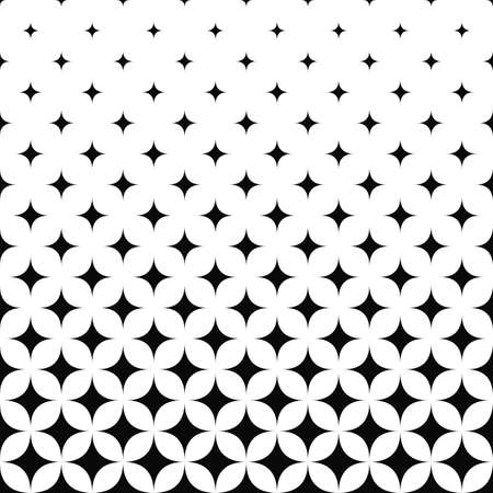 Seamless monochrome curved star pattern design background