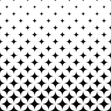 Seamless monochrome curved star pattern design background