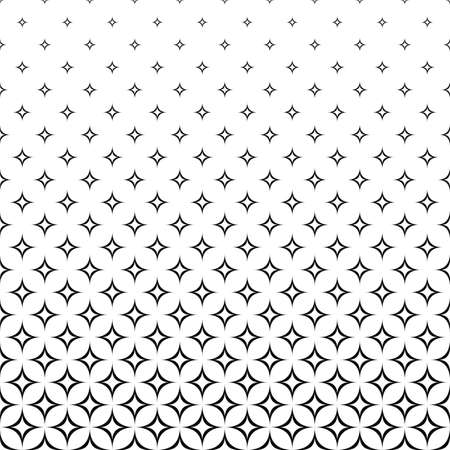 star pattern: Seamless black and white curved star pattern