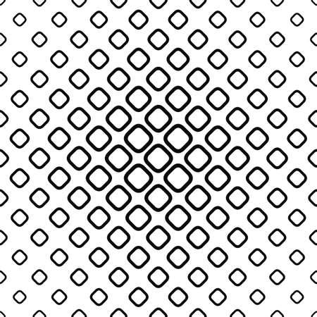 シームレスなモノクロ丸みを帯びた正方形のパターン デザインのベクトルの背景  イラスト・ベクター素材