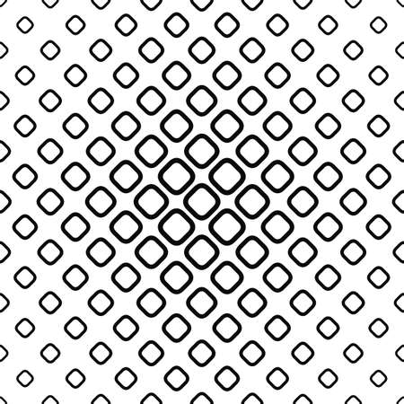 Seamless monochrome rounded square pattern design vector background Illustration