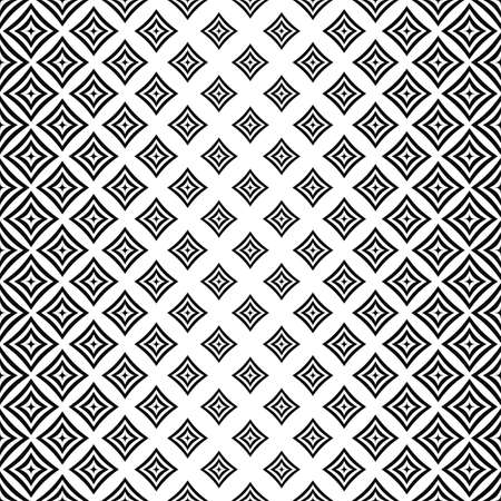 angular: Seamless vertical monochrome angular curved square pattern