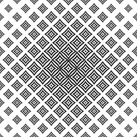 in curved: Monochrome abstract seamless curved concentric square pattern
