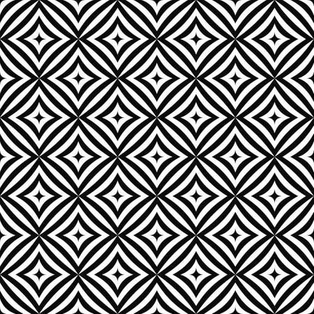 angular: Seamless geometric monochrome angular curved rectangle pattern