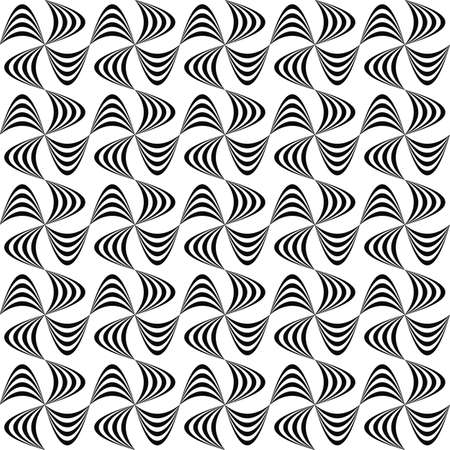 curved line: Abstract seamless monochrome curved line pattern design