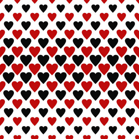 heart pattern: Seamless red and black heart pattern background for Valentines day