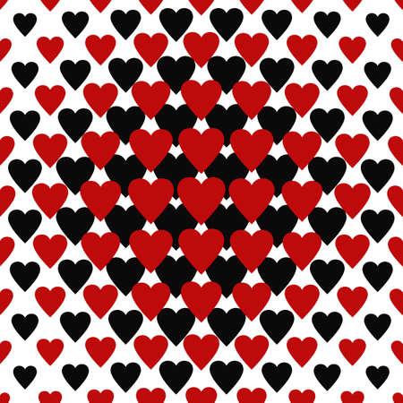 cuore: Senza soluzione di continuità cuore rosso e nero di fondo del modello