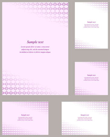 curved line: Light purple curved line pattern page corner design template