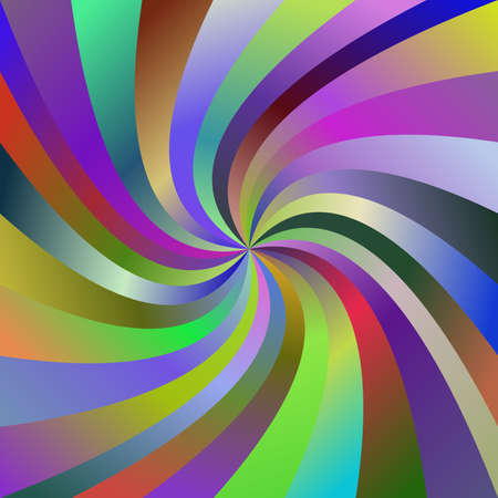 turmoil: Multicolored abstract spiral ray burst vector background