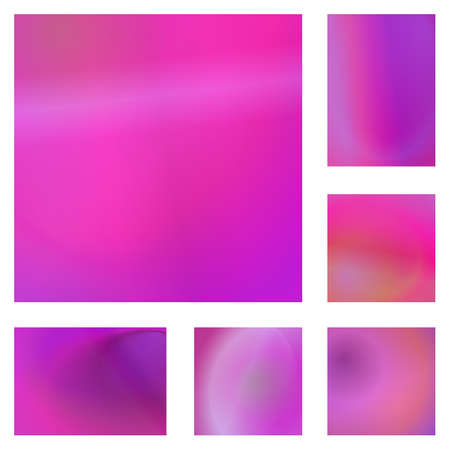 ambiance: Magenta color abstract gradient background design set