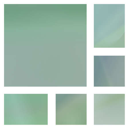 pale green: Pale green gradient abstract background design set Illustration