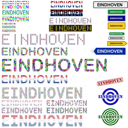 eindhoven: Eindhoven text design set - writings, boards, stamps