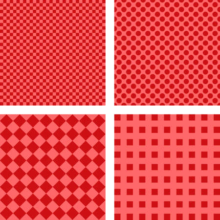 fleck: Abstract simple red geometric pattern background set