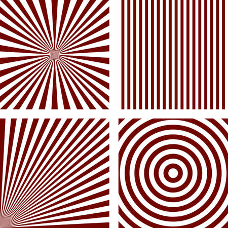 Simple abstract purple striped pattern background set Illustration