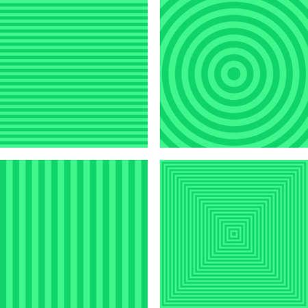 angled: Light green simple striped geometric background set Illustration