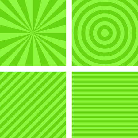 radio beams: Simple abstract lime color striped pattern background set
