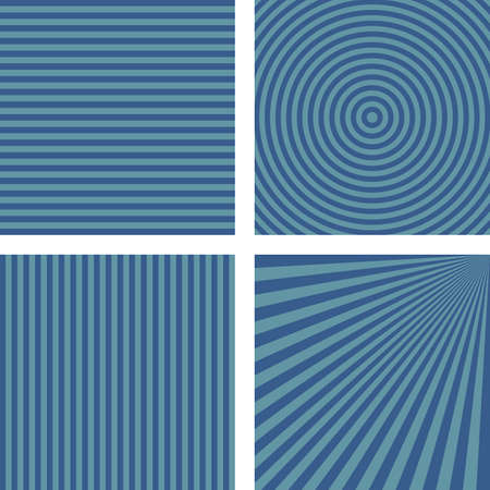 cross bar: Simple abstract blue striped pattern background set Illustration