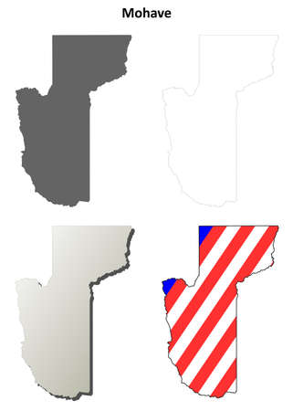 aha: Mohave County, Arizona blank outline map set