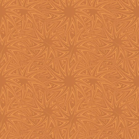 star pattern: Copper color seamless curved star pattern background Illustration