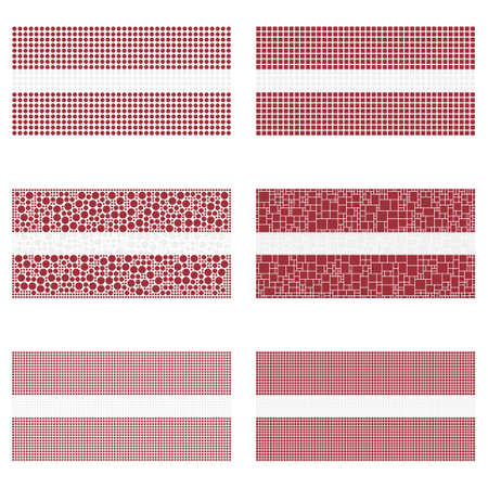 wallpaper  eps 10: Mosaic Latvia national flag vector design set