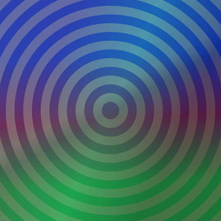 Blue and green metallic background design with concentric circles Illustration