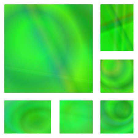 ambiance: Green color gradient abstract background design set