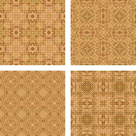 mosaic: Light brown tiled mosaic floor design set