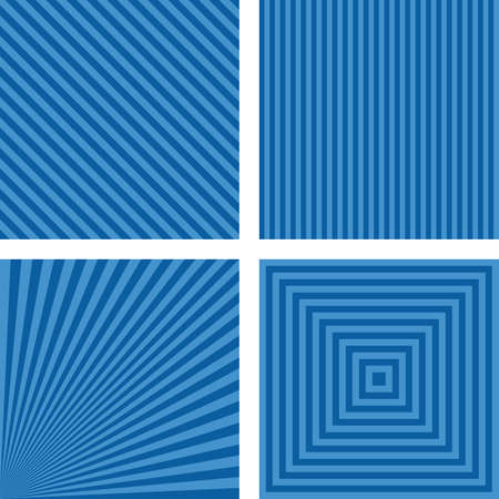 angled: Blue simple abstract striped pattern background set