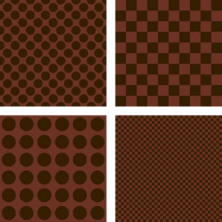 dark brown: Dark brown simple geometric shape wallpaper set Illustration