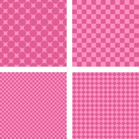 Rosa simple abstracta geométrica forma de papel tapiz conjunto Foto de archivo - 48813582