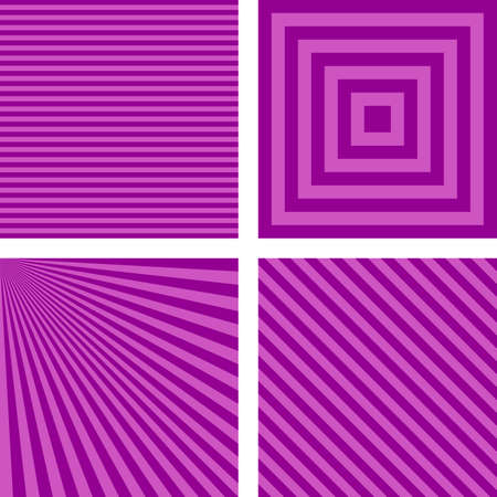 light ray: Purple abstract simple striped pattern wallpaper set