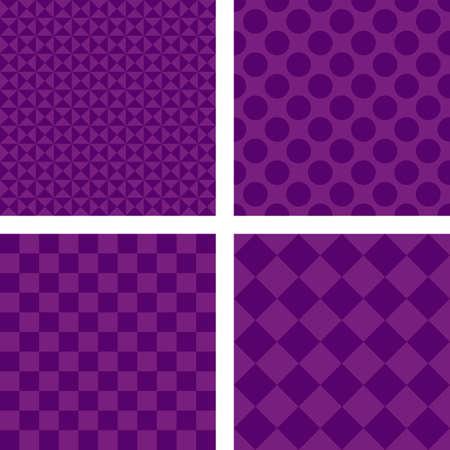 fleck: Purple simple abstract geometric shape wallpaper set Illustration