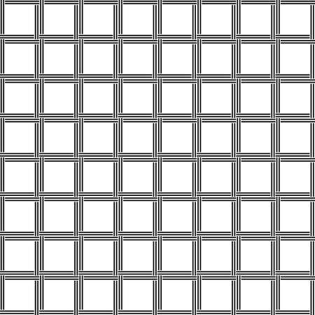 rattan: Black and white seamless line pattern design