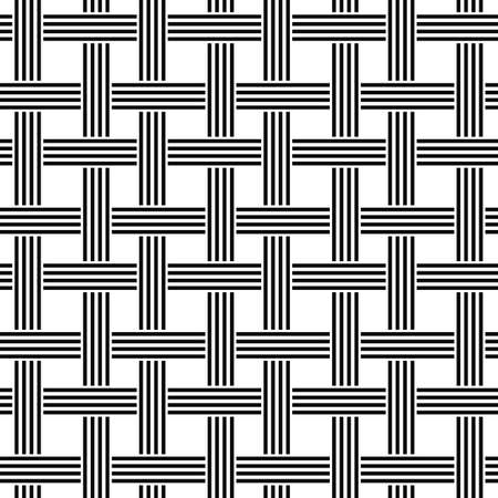 weave: Repeating black and white weave pattern design