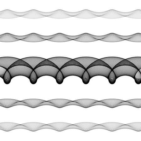elliptical: Elliptical page text divider line design set Illustration