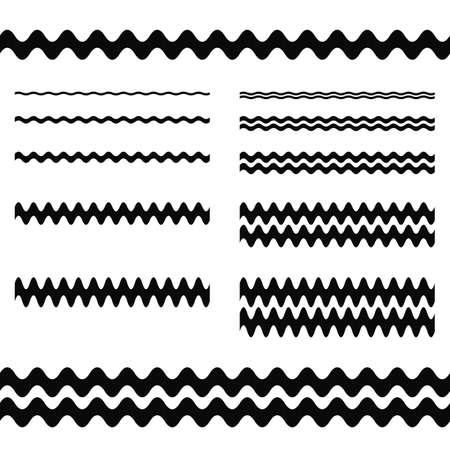 sine: Graphic design elements - wave line page divider set
