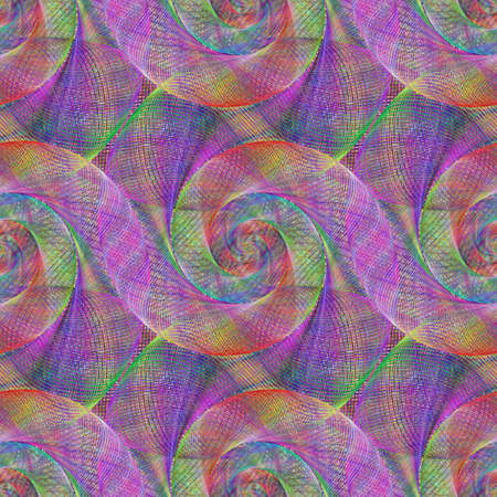 wired: Multicolored wired abstract spiral pattern background design
