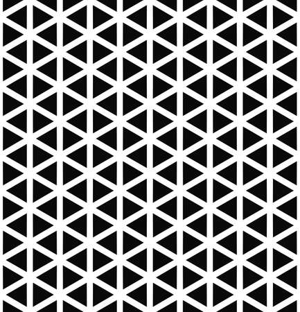 Repeat monochrome hexagonal vector triangle pattern design Illustration