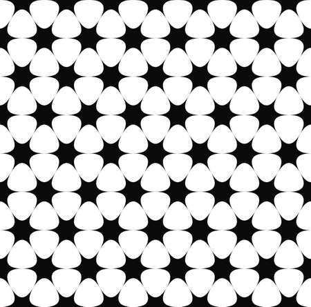 star pattern: Repeating monochrome hexagonal vector star pattern background Illustration