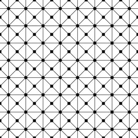 grid pattern: Seamless monochrome wired grid pattern design background