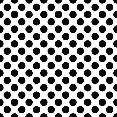 Seamless black and white polka dot pattern Stock Illustratie