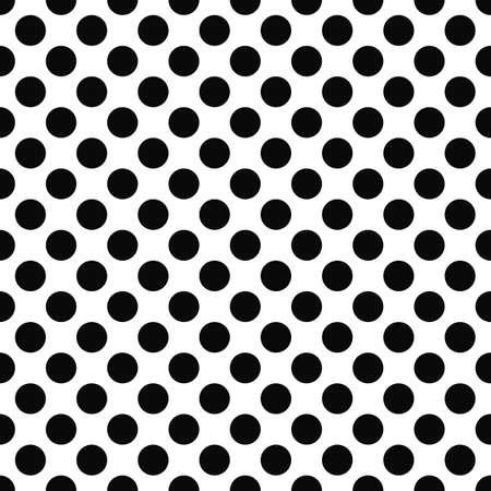 Seamless black and white polka dot pattern Illustration