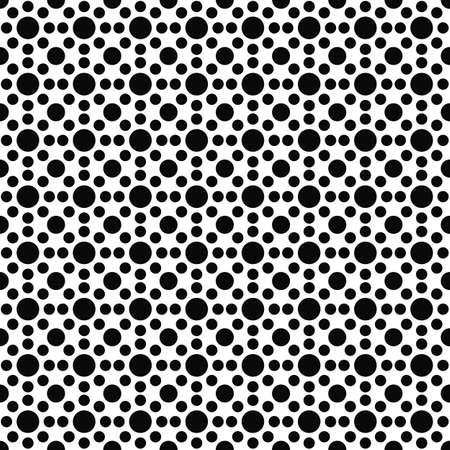 conception de modèle de cercle sans soudure en noir et blanc