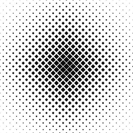 Repeating black white vector square pattern background Illustration