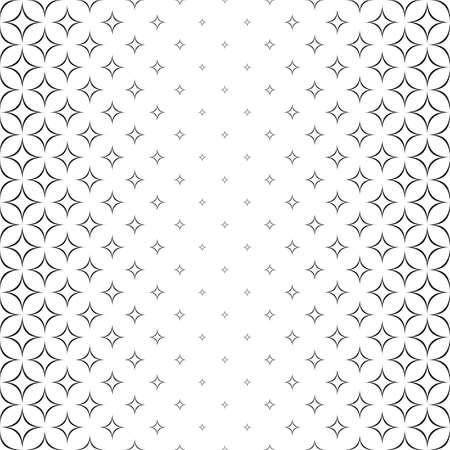 Naadloze monochroom abstracte ster patroon ontwerp achtergrond