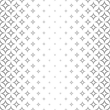 Seamless monochromatic abstract star pattern design background